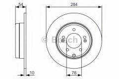 Комплект тормозных дисков BOSCH 0 986 479 A45 (2 шт.)