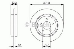 Комплект тормозных дисков BOSCH 0 986 479 A53 (2 шт.)