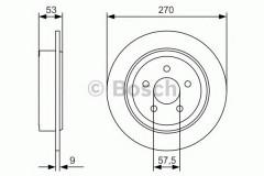 Комплект тормозных дисков BOSCH 0 986 479 A79 (2 шт.)