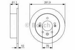 Комплект тормозных дисков BOSCH 0 986 479 R09 (2 шт.)