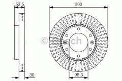 Комплект тормозных дисков BOSCH 0 986 479 T88 (2 шт.)