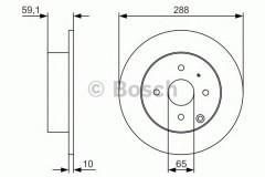 Комплект тормозных дисков BOSCH 0 986 479 U59 (2 шт.)