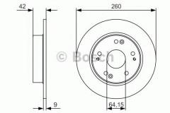 Комплект тормозных дисков BOSCH 0 986 479 U85 (2 шт.)