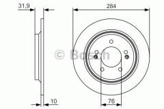 Комплект тормозных дисков BOSCH 0 986 479 V09 (2 шт.)