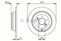 Комплект тормозных дисков BOSCH 0 986 479 V15 (2 шт.)