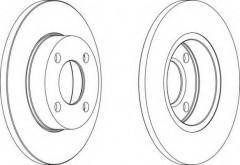 Комплект передних тормозных дисков FERODO DDF048 (2 шт.)