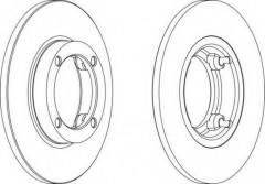 Комплект передних тормозных дисков FERODO DDF1098 (2 шт.)