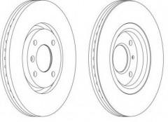 Комплект передних тормозных дисков FERODO DDF1152 (2 шт.)