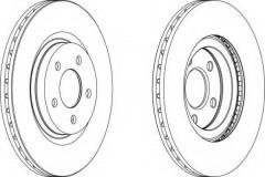 Комплект передних тормозных дисков FERODO DDF1153 (2 шт.)