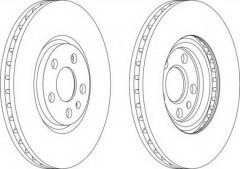 Комплект передних тормозных дисков FERODO DDF1165 (2 шт.)