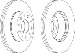 Комплект передних тормозных дисков FERODO DDF1170 (2 шт.)
