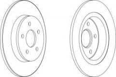 Комплект задних тормозных дисков FERODO DDF1227 (2 шт.)