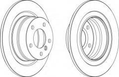 Комплект задних тормозных дисков FERODO DDF1230 (2 шт.)
