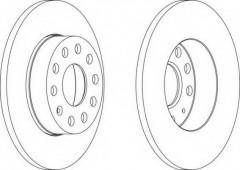 Комплект задних тормозных дисков FERODO DDF1276 (2 шт.)