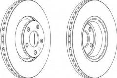 Комплект передних тормозных дисков FERODO DDF1277 (2 шт.)