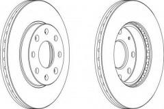 Комплект передних тормозных дисков FERODO DDF1279 (2 шт.)