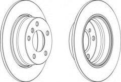 Комплект задних тормозных дисков FERODO DDF1303 (2 шт.)