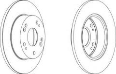 Комплект задних тормозных дисков FERODO DDF1390 (2 шт.)