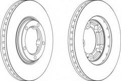 Комплект передних тормозных дисков FERODO DDF1404 (2 шт.)