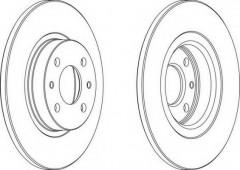 Комплект передних тормозных дисков FERODO DDF141 (2 шт.)