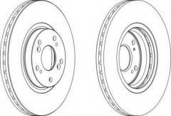 Комплект передних тормозных дисков FERODO DDF1424 (2 шт.)