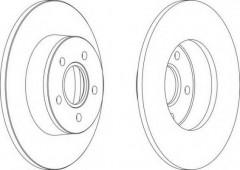 Комплект задних тормозных дисков FERODO DDF1497 (2 шт.)