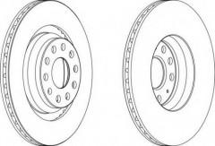 Комплект задних тормозных дисков FERODO DDF1503 (2 шт.)