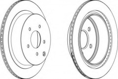 Комплект задних тормозных дисков FERODO DDF1506 (2 шт.)
