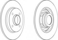 Комплект задних тормозных дисков FERODO DDF1523 (2 шт.)