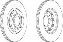 Комплект задних тормозных дисков FERODO DDF1526 (2 шт.)