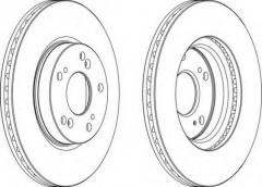 Комплект передних тормозных дисков FERODO DDF1539 (2 шт.)