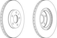 Комплект передних тормозных дисков FERODO DDF156 (2 шт.)