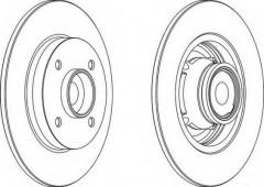 Комплект задних тормозных дисков FERODO DDF1560 (2 шт.)