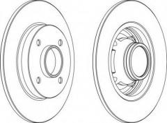 Комплект задних тормозных дисков FERODO DDF1564 (2 шт.)