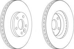 Комплект передних тормозных дисков FERODO DDF1567 (2 шт.)