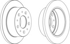 Комплект задних тормозных дисков FERODO DDF1574 (2 шт.)