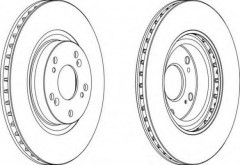 Комплект передних тормозных дисков FERODO DDF1596 (2 шт.)
