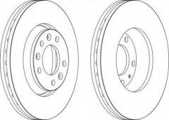 Комплект передних тормозных дисков FERODO DDF1601 (2 шт.)