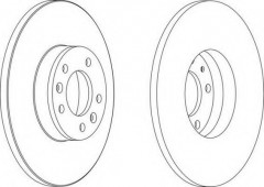 Комплект задних тормозных дисков FERODO DDF1602 (2 шт.)