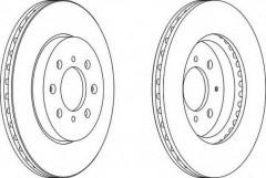 Комплект передних тормозных дисков FERODO DDF1610 (2 шт.)