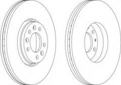 Комплект передних тормозных дисков FERODO DDF1615 (2 шт.)