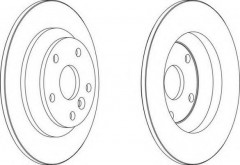 Комплект задних тормозных дисков FERODO DDF1616 (2 шт.)