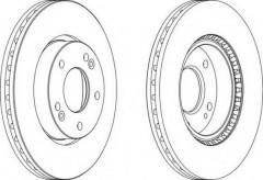 Комплект передних тормозных дисков FERODO DDF1619 (2 шт.)