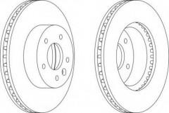 Комплект передних тормозных дисков FERODO DDF1625 (2 шт.)