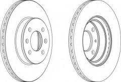 Комплект передних тормозных дисков FERODO DDF1636 (2 шт.)