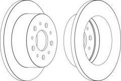 Комплект задних тормозных дисков FERODO DDF1653 (2 шт.)