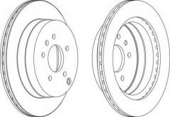 Комплект задних тормозных дисков FERODO DDF1660 (2 шт.)