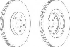 Комплект передних тормозных дисков FERODO DDF1665 (2 шт.)
