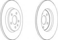 Комплект задних тормозных дисков FERODO DDF1666 (2 шт.)
