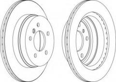 Комплект задних тормозных дисков FERODO DDF1697 (2 шт.)